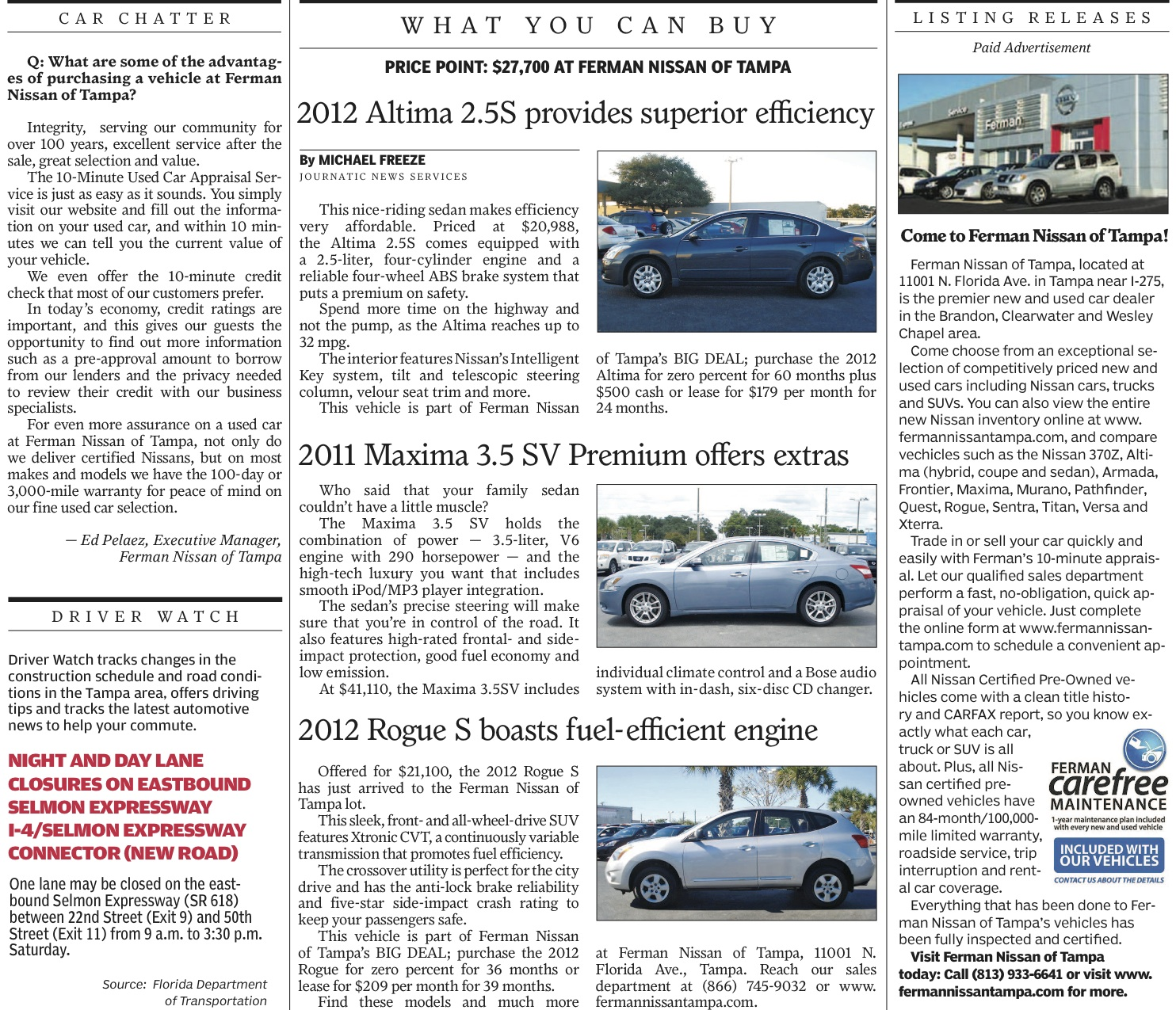 Ferman nissan tampa page 2 for Ferman motor car company